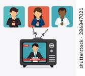 journalism design over white... | Shutterstock .eps vector #286847021