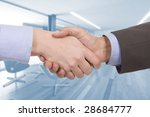handshake of two successful... | Shutterstock . vector #28684777