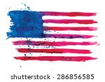 vector watercolor flag of the... | Shutterstock .eps vector #286856585