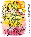 watercolor background with... | Shutterstock .eps vector #286857161