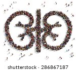 large group of people seen from ... | Shutterstock . vector #286867187