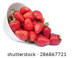 red fresh strawberry in a bowl... | Shutterstock . vector #286867721
