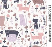 cute seamless background with... | Shutterstock .eps vector #286870715