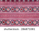 red thai woven cloth fabric. | Shutterstock . vector #286871081