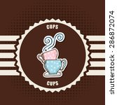 coffee time design  vector... | Shutterstock .eps vector #286872074