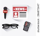 journalism design over white... | Shutterstock .eps vector #286872647