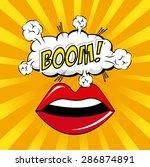 comics design over yellow... | Shutterstock .eps vector #286874891