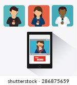 journalism design over white... | Shutterstock .eps vector #286875659