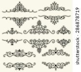 set of vintage frames and... | Shutterstock .eps vector #286878719