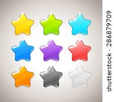 set of colorful stars. vector...