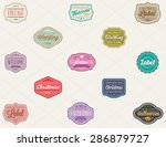 vector set of of vintage retro... | Shutterstock .eps vector #286879727
