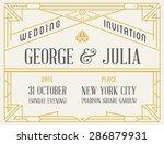 art deco and nouveau gatsby... | Shutterstock .eps vector #286879931