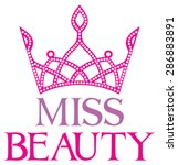 miss beauty sign with diamond... | Shutterstock .eps vector #286883891