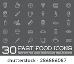 Set Of Vector Fastfood Fast...