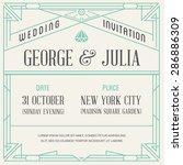 art deco and nouveau gatsby... | Shutterstock .eps vector #286886309
