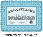 sample certificate. retro... | Shutterstock .eps vector #286902791