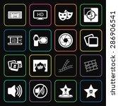 vector illustration of cinema... | Shutterstock .eps vector #286906541