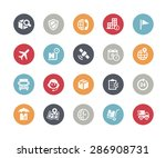 shipping   tracking icons   ... | Shutterstock .eps vector #286908731