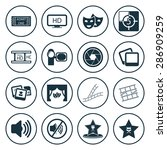 vector illustration of cinema... | Shutterstock .eps vector #286909259