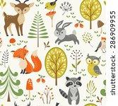 Seamless Summer Forest Pattern...