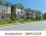 typical apartment complex... | Shutterstock . vector #286912229
