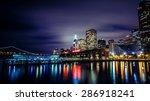 ferry building and bay bridge...   Shutterstock . vector #286918241