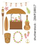 hawaii party collection | Shutterstock .eps vector #286918817