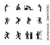 people sick icons set vector... | Shutterstock .eps vector #286919081
