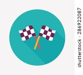 racing flags flat icon with... | Shutterstock . vector #286922087