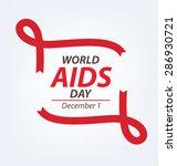 aids awareness. world aids day... | Shutterstock .eps vector #286930721
