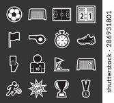 soccer icon | Shutterstock .eps vector #286931801
