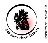 coronary heart disease symbol   ... | Shutterstock .eps vector #286935845