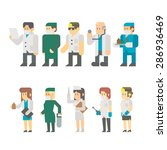flat design of medical worker... | Shutterstock .eps vector #286936469