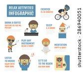 relax activities infographic ... | Shutterstock .eps vector #286940051