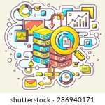 vector color illustration of... | Shutterstock .eps vector #286940171