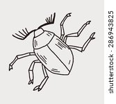 insect doodle | Shutterstock .eps vector #286943825