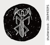 manti doodle   Shutterstock .eps vector #286945091