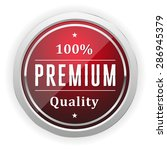 red premium quality badge with... | Shutterstock .eps vector #286945379