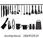 a collection of kitchen... | Shutterstock .eps vector #286953515