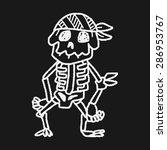 skull doodle | Shutterstock .eps vector #286953767