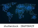abstract polygonal world map... | Shutterstock .eps vector #286958429