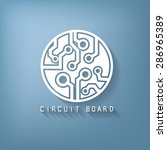 circuit board sign icon.... | Shutterstock .eps vector #286965389