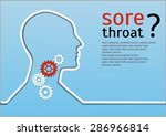 sore throat. gears connection... | Shutterstock .eps vector #286966814