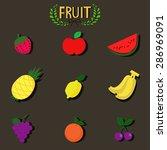 many fruit    Shutterstock .eps vector #286969091