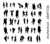 dancing silhouettes | Shutterstock . vector #28697236