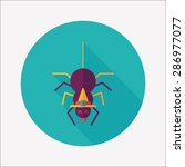 halloween spider flat icon with ...   Shutterstock . vector #286977077