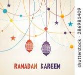 beautiful greeting card design... | Shutterstock .eps vector #286981409