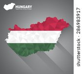hungary flag overlay on hungary ... | Shutterstock .eps vector #286983917