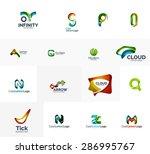 set of new universal company... | Shutterstock .eps vector #286995767