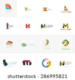 set of new universal company... | Shutterstock .eps vector #286995821